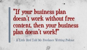 if your business plan includes free content